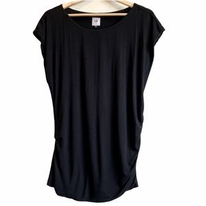 Cabi side ruched black tee